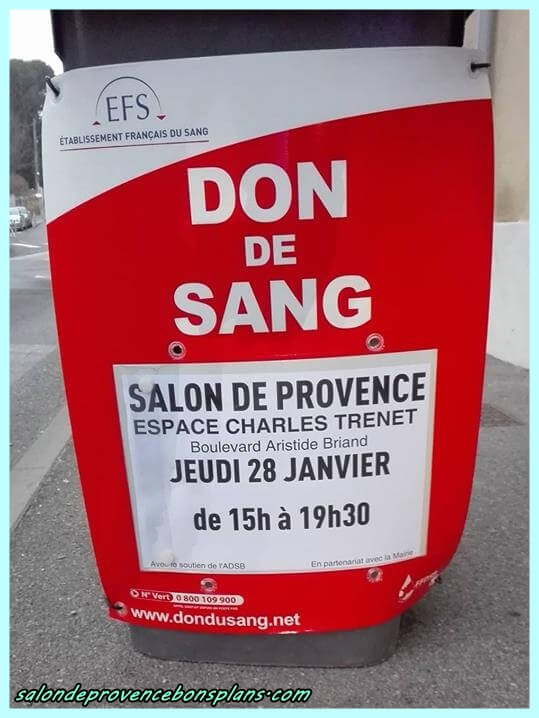 Don de sang salon de provence