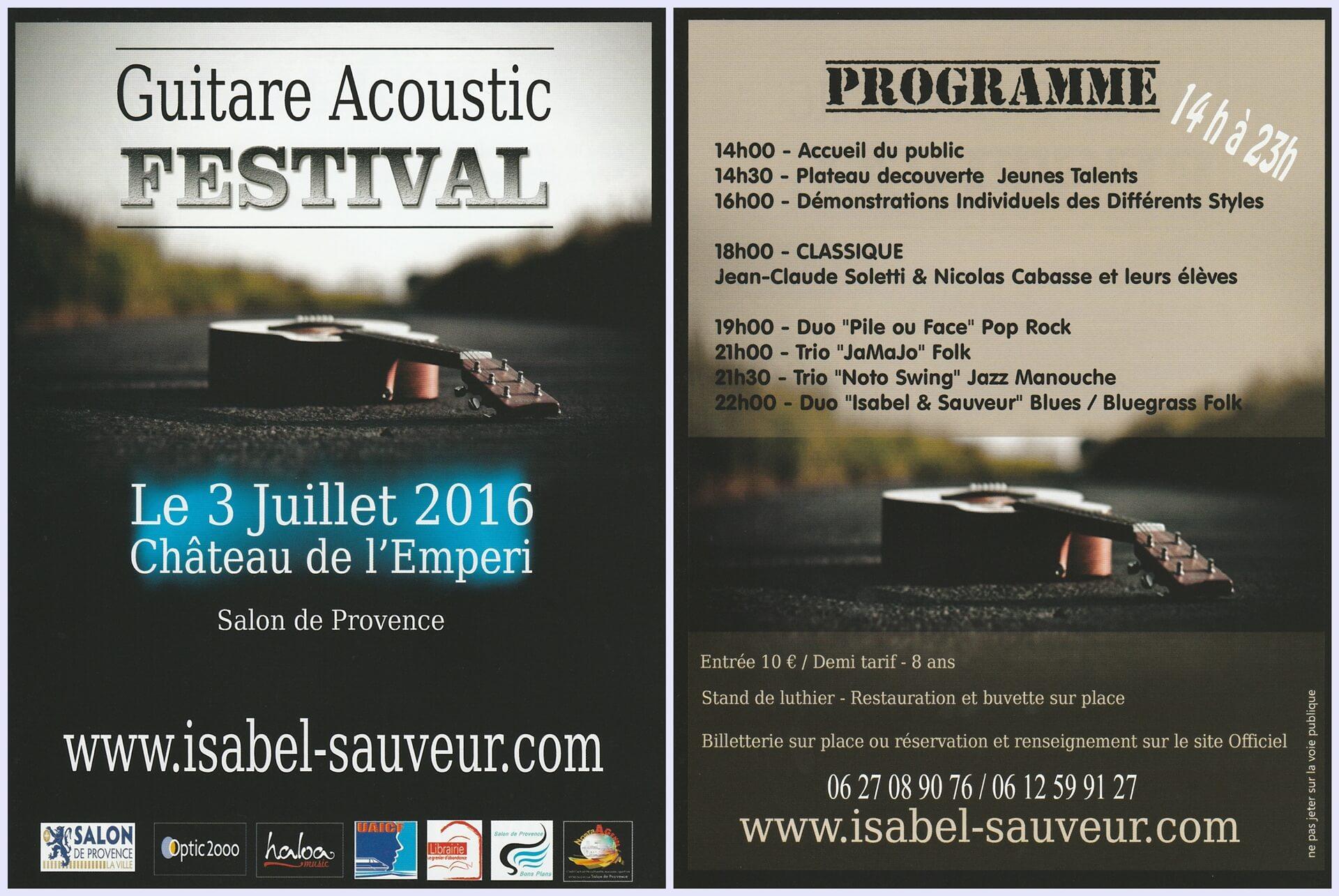 Guitare acoustic festival salon de provence