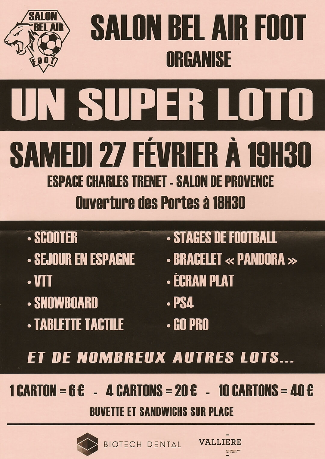 Loto sbf foot salon de provence