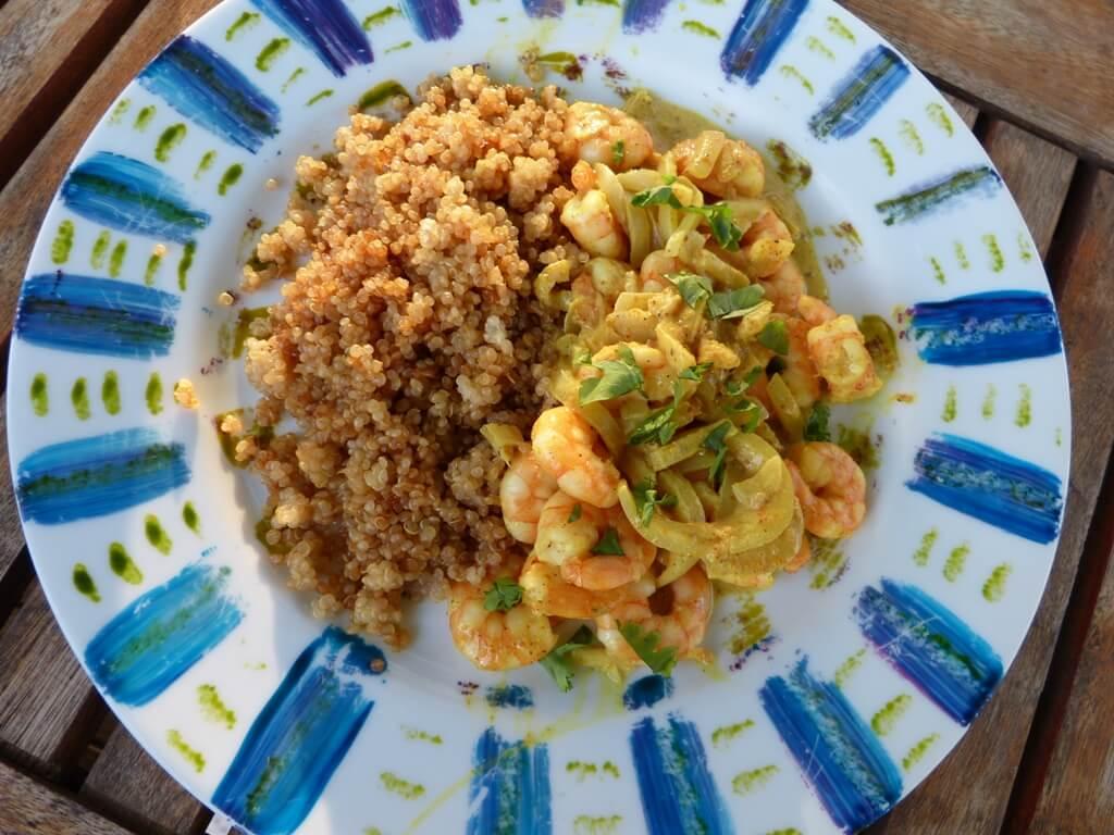 Recette curry crevettes