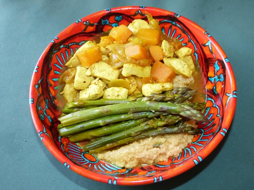 Recette tajine poulet asperges potiron