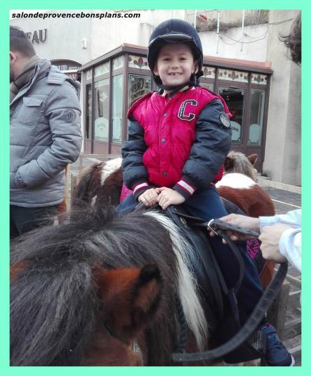 Salon de provence pour les promenades gratuites en poneys