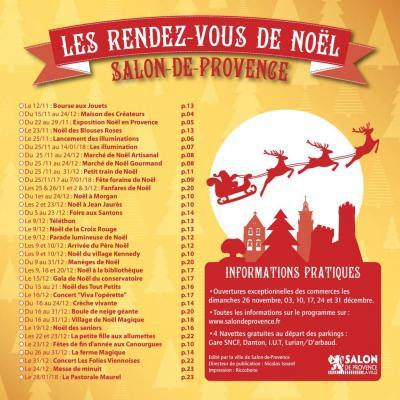 Programme de Noël 2017 Salon de Provence